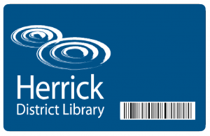 illustration of a Herrick District Library card