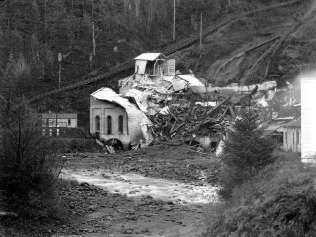 Avalanche damage, November 1936