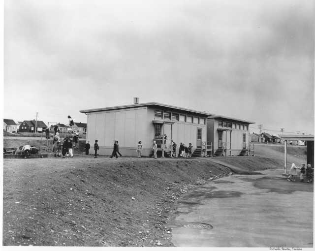 Geiger Elementary portable units, 1951   Tacoma Public Library