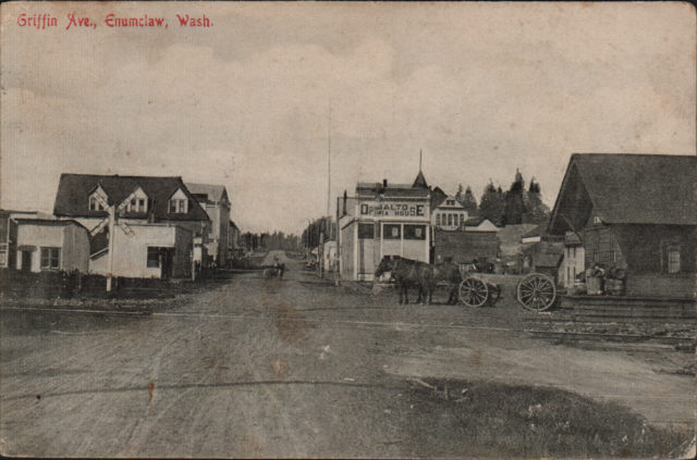 Enumclaw postcard, July 1908, front