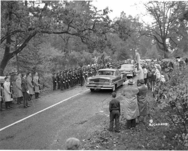 President Dwight D. Eisenhower's motorcade in Tacoma, October 1956
