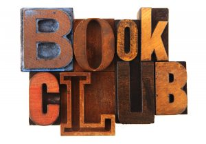 """""""Book Club spelled out in letterpress letters. Note that these letters are over 100 years old and are dirty, dusty and grimy :)"""""""