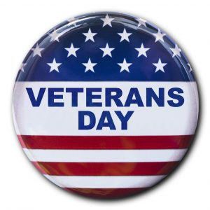 veterans day badge button