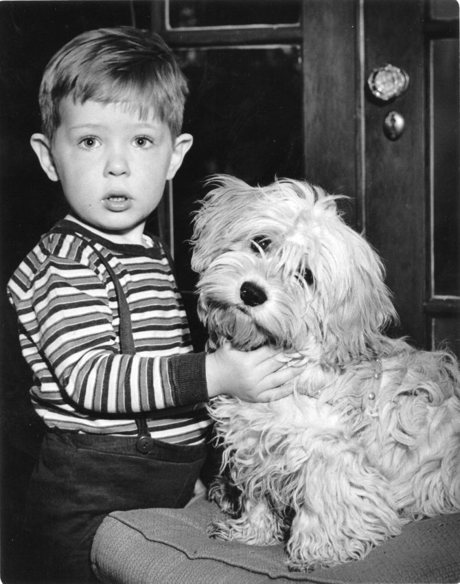 Image of Harry P. Cain II and dog Ricky
