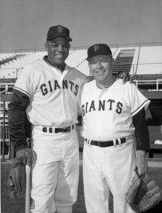 Image of Ben Cheney and Willie Mays