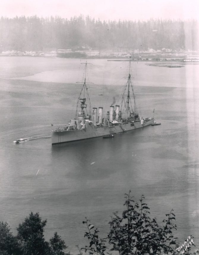 Image of USS Omaha in Commencement Bay