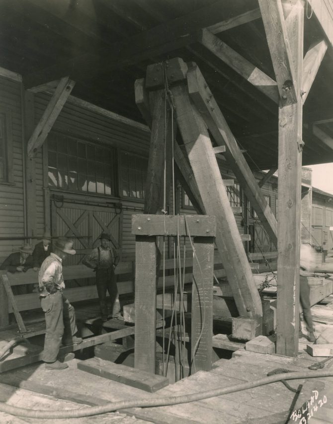 Image of a reconstruction procedure at the municipal dock