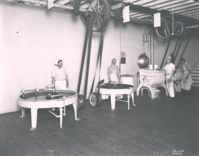 Image of the interior of Brown and Haley factory