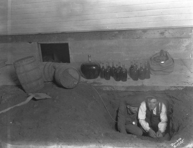 Image of a moonshine operation raid