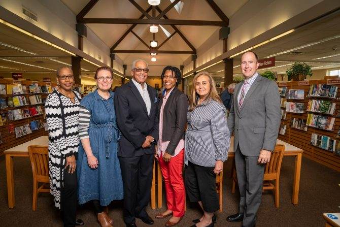 Library Board of Trustees with Library Director Kate Larsen in 2019
