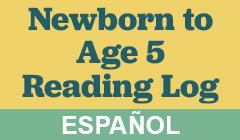 Little Kids Reading Log in Espanol