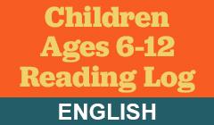 Children Reading Log in English