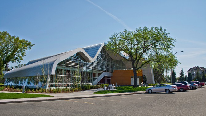 Exterior view of Jasper Place Library.