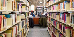 Enterprise Square - bookshelves