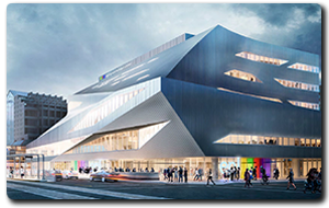 Rendering of the new Stanley Milner library