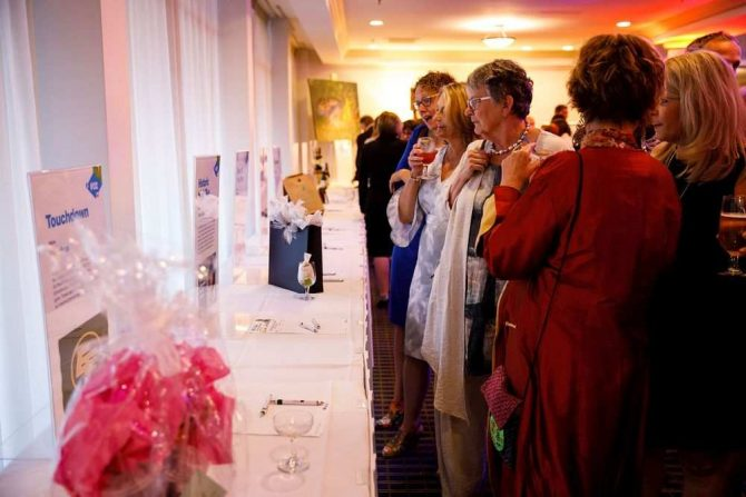 Guests at silent auction