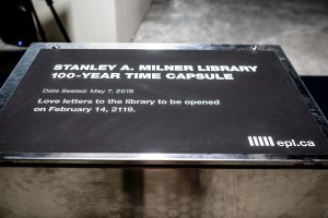Stanley A. Milner Library Time Capsule