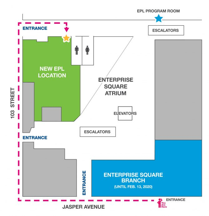Enterprise Square Branch Map to New Location