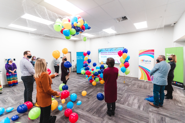 Balloon drop to officially open the new branch!