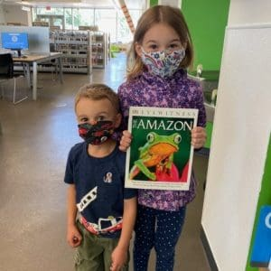 Anika and her brother at Highlands Branch