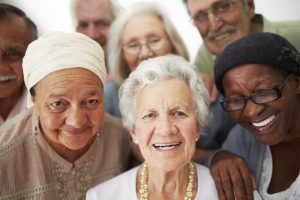 Group of older adults smiling for the camera