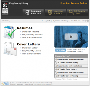 Prepare for a Job Search with Resume Builder | King County Library ...