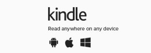 Screenshot of the Kindle link and icon added to the bottom of the page as another way for patrons to discover Kindle.