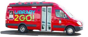 Red Library2Go Bookmobile Van