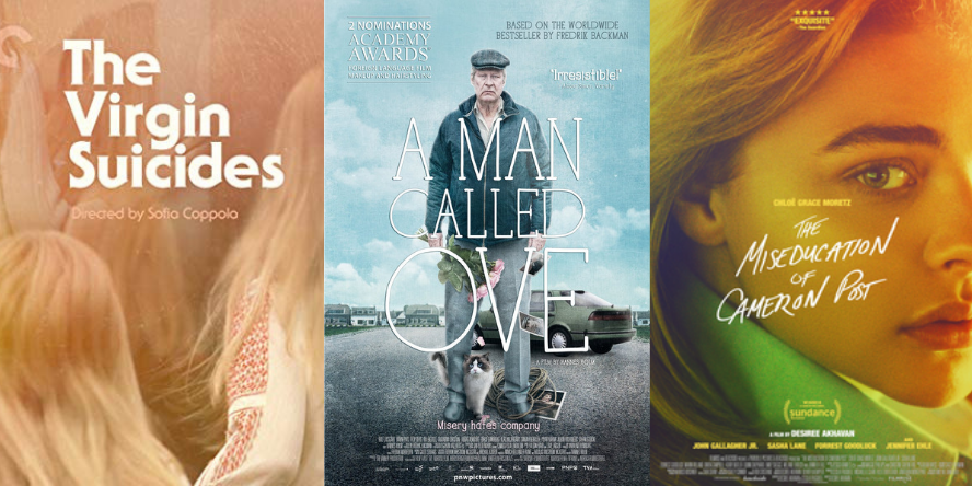 The Virgin Suicides; A Man Called Ove; and The Miseducation of Cameron Post