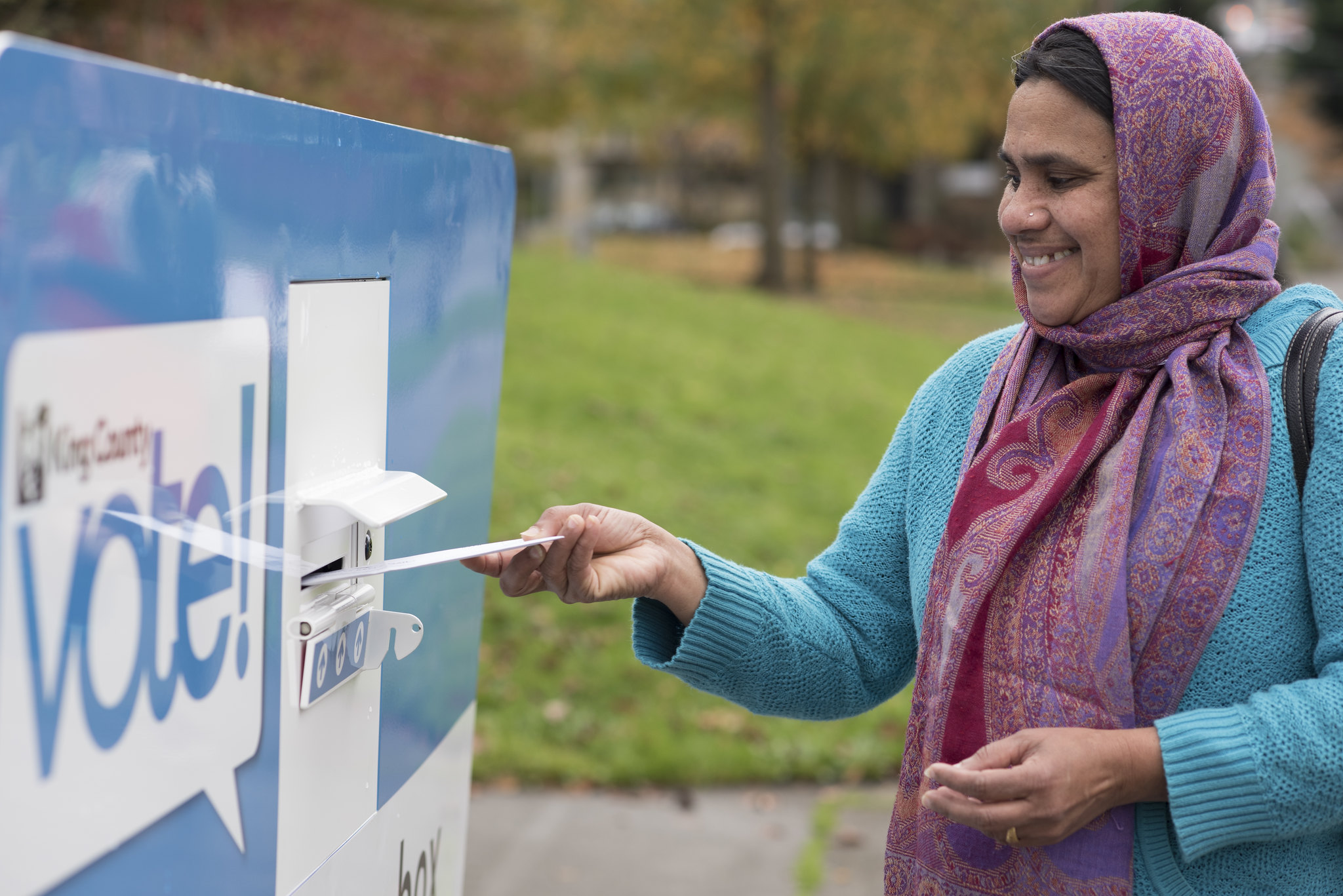 Vote, elections: using ballot drop box 15