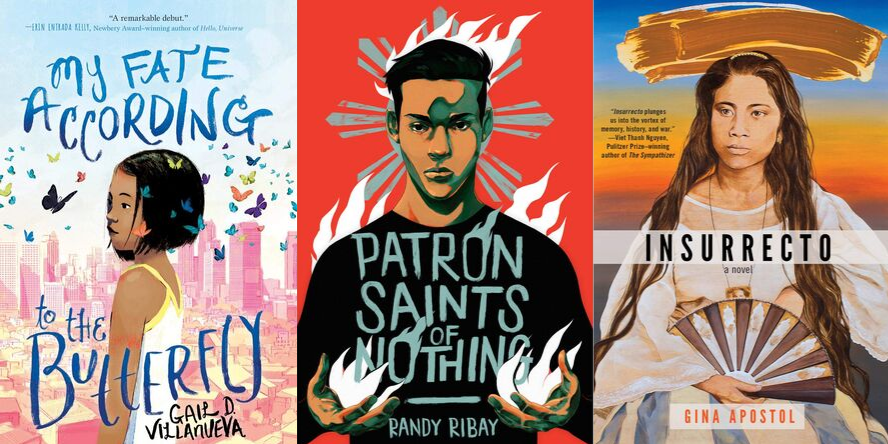 My Fate According to the Butterfly by Gail D. Villaneuva, Patron Saints of Nothing by Randy Ribay, Insurrecto by Gail Apostol