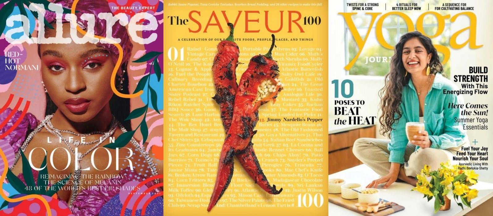 Allure, Saveur, and Yoga digital magazine on Overdrive