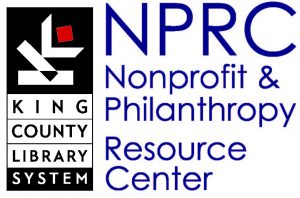 King County Library System NPRC Nonprofit and Philanthropy Resource Center logo
