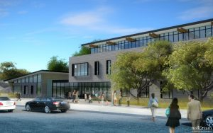 Rendering of the new Half Moon Bay Library.