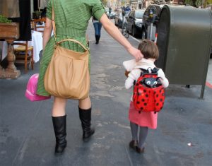 Child going back to school. Source: Anita Hart, Flickr.