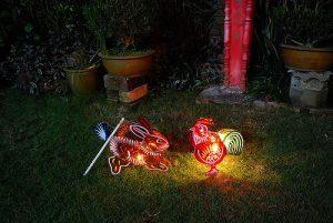Rabbit and Chiky Lantern photo. <br> Source: zaltsev, Flickr.
