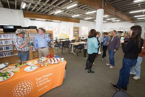 The Inside of the Half Moon Bay Library's Temporary Location