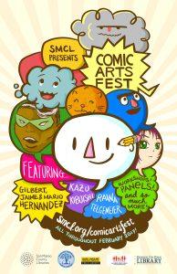Poster for Comic Arts Fest 2017.