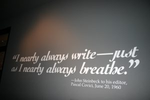 Quote on wall at the Steinbeck Museum in Salinas, CA. Source: Joe Flood, Flickr