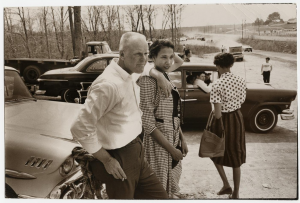 Richard and Mildred Loving attend a car race in the late 1950s.