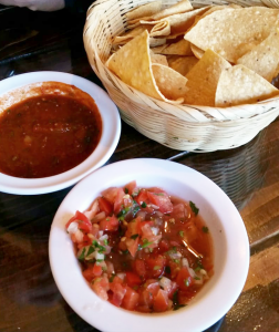Chips and salsa from Melissa's Taqueria.