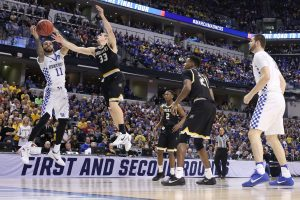 The University of Kentucky men's basketball team beat Wichita State in the second round of the NCAA Men's Basketball Tournament on Sunday, March 19, 2017, at Bankers Life Fieldhouse in Indianapolis, IN. Source: Chet White | UK Athletics.