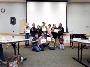Teen Film Festival middle school winners.