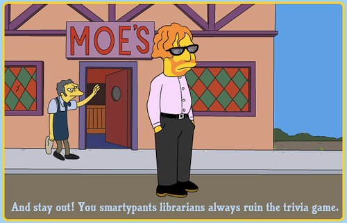 Simpson's episode featuring a Librarian.