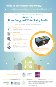 Check It Out! Energy and Water Saving Toolkits poster.