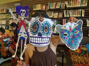 Painted Dia de los Muertos (Day of the Dead) masks.