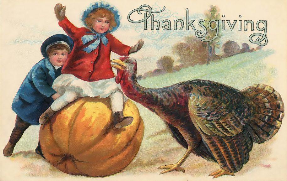 Vintage Thanksgiving card.