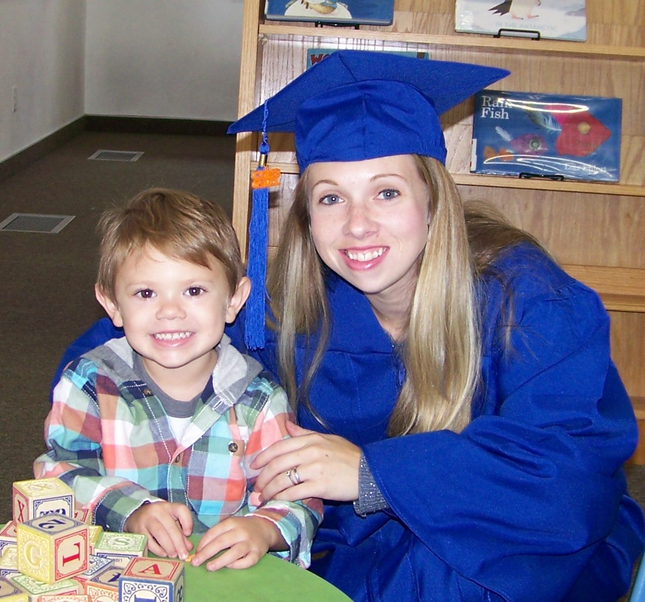 COHS graduate Heather Robbins with her son Lucky.