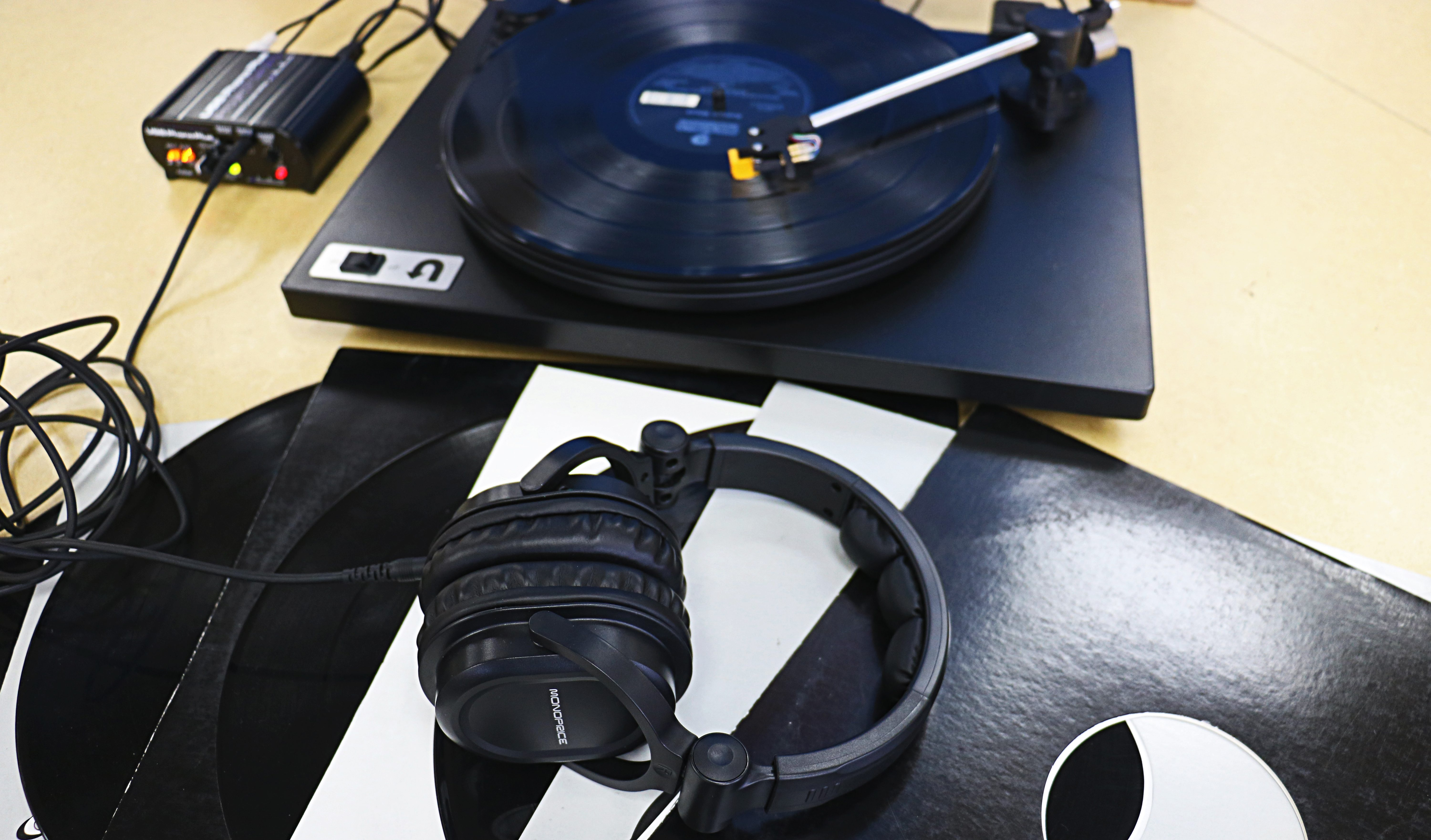 Turntable at the East Palo Alto Library.