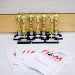 Teen Film Festival trophies